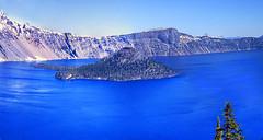 Crater Lake National Park - Wizard Island -Oregon 1984 (bigjohn1941) Tags: wizard island crater lake national park