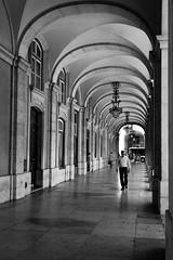 Arcadas do Terreiro do Paço (H&T PhotoWalks) Tags: arcade arcada arch vault architecture blackwhite blackandwhite bw streetscape streetphotography canoneos350d canon28135 lisboa lisbon portugal terreirodopaço 500px