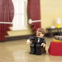 Grover Cleveland (Ryan Howerter) Tags: lego american presidents united states vignette minifigure lighting flooring
