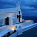Blue hour in Santorini