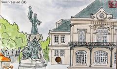 La France des Sous-Préfectures 52 (chando*) Tags: aquarelle watercolor croquis sketch france