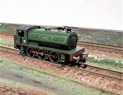 Robert 7 NCB (99) (honk843) Tags: steam saddle tank graham farish bachann n gauge green lined red cb ncb national coal board collery poole production bold littleton locomotive