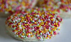 2017 Sydney: Fairy Bread (dominotic) Tags: 2017 food fairybread 100sand1000s 7dwf macromondays bread sydney australia circle colours sweets confectionery