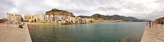 Cefalù and its ghosts (Adrien Marc (NC)) Tags: sicilia sicily cefalu cefalù panorama hugin longexposure le