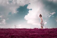 Hebe (Ans van de Sluis) Tags: ansvandesluis portrait child girl toddler little female nature surreal art fineart sky clouds innocence landscape