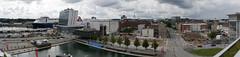 P1310901 (Lumixfan68) Tags: panorama schwenkpanorama kiel bootshafen berliner platz innenstadt