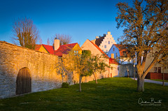 Juste avant les rêves/Just before the dreams/Just innan drömmar (Elf-8) Tags: sweden gotland visby architecture wall medieval sunet