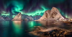 Swirl (hpd-fotografy) Tags: arctic aurora borealis hamnøy lofoten moskenesøya northernlights norway ostinden beach classic cold dramatic longexposure night panorama reflection seascape snow stars water winter