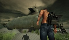 Discover (Broderick Logan) Tags: thereafter secondlife second life sl avatar virtual event post apocalypse postapocalypse apocalyptic nomad clavv stealthic deadwool quote alan alda submarine blogger model photographer photography desert