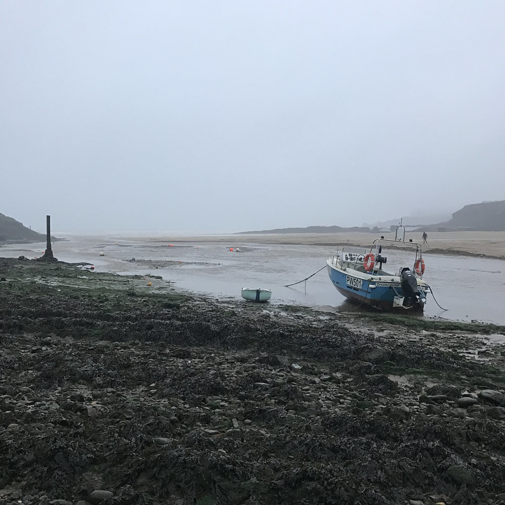 Fishing boat at Bude Beach (Cornwall, UK)