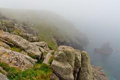 Irish Lady Rock (pni) Tags: mist fog sennen rock stone shore shoreline water sea ocean coast coastpath footpath sennencove landsend uk17 cornwall uk england unitedkingdom pekkanikrus skrubu pni