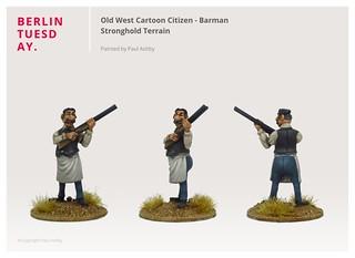 Barman / Old West Cartoon Citizen / Stronghold Terrain