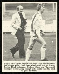 1976-77 TELFORD UNITED 1 WEYMOUTH 1  (SLP) (bullfield) Tags: telfordunited wellington shropshire weymouth dorset