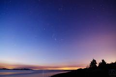 First Light (C McCann) Tags: centralsaanich bc britishcolumbia canada vancouverisland islandview beach sunrise stars dawn daybreak trees water ocean longexposure