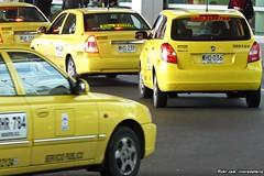 Taxis - Bogotá Airport, Colombia (RiveraNotario) Tags: taxis taxi cars autos taxisdecolombia colombia bogotá bogota