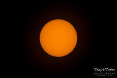 Pre-eclipse capture of the sun