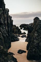 Noja (jdelrivero) Tags: provincia mar geologia cantabria costa ciudad elementos atardecer noja rocas geology elements puestadesol sea sunset españa es