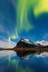 When God Winks (DBPhotographe) Tags: iceland aurora borealis green reflection jokulsarlon water lake cloud night astro astrophotography stars starry winter snow long exposure canon 6d
