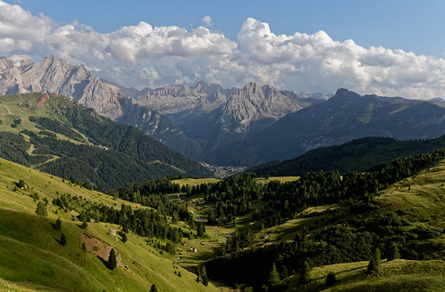 Canazei and Surroundings as Seen from Passo di Sella
