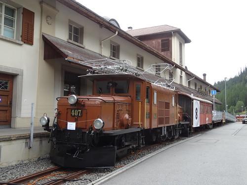 Alpentour August 2017 003 Bahnmuseum Albula in Bergün