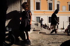 (Kristin Van den Eede) Tags: streetphotography street rome spagna candid color colour contrast summer city sun fuji