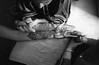 All Hands on Deck (Vamsi Illindala) Tags: vamsi illindala vamsikrishnahemanthillindala olympusom4t om4t olympusom50mmf14gzuikoautos oly silvernose film ilford400 blackandwhite indianwedding mehendi mehndi henna middleeastern indian persian hand palm digirebel art epsonv500 filmphotography