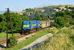 """T 448 0602 + T 448 0609 by """"SAPPHIRE"""" - Pn 50561 (Zemianske Kostoľany - Handlová)  Ráztočno   19.7.2017"""
