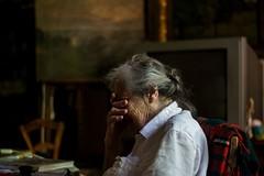 Mima, May 2015 (esztervaly) Tags: grandmother portrait emotive room old woman indoor portraitphotography portraiture portraitwoman portraits portraitmood womanportrait naturallight natural windowlight paintings emotiveportrait granny tv