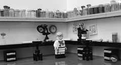 The Fight against infection (peggyjdb) Tags: britishhistory british history science scientists penicillin lego microscope