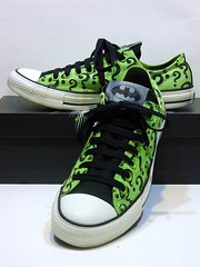 DC Comics (Riddler) - Green & Black Ox 125560F (hadley78) Tags: cons chucks converse collection ct chucktaylors chuck taylor taylors tops top thatconverseguy guinness worldrecord world record ripleys joshuamueller dc comics batman riddler