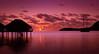Mo'orea Sunset (byron bauer) Tags: byronbauer moorea sunset sky clouds ocean pacific sea silhouette island stilt house hut reflections color seascape elitegalleryaoi bestcapturesaoi aoi
