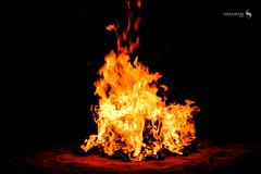 Fire (hisalman) Tags: fire coal desert night dark hisalman