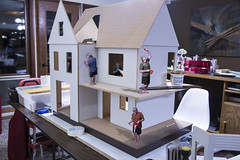 Doll house and mini-workers (Rick Drew - 19 million views!) Tags: doll house mini building minime painting work toy kids hobby humor