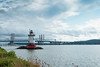 Sleepy Hollow Lighthouse, Kingsland Point. (ho_hokus) Tags: 2017 fujix20 fujifilmx20 hudsonriver hudsonrivervalley newyork sleepyhollow tappanzeebridge lighthouse kingslandpointcountypark