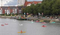 Alle meine Amphicars schwimmen auf der Weser... (Schwanzus_Longus) Tags: bremen river weser german germany old classic vintage car vehicle amphibious amphicar 770 swimming floating boat