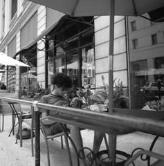 hdm (pavel photography) Tags: street people online monochrome bwfilm blackandwhitefilm mediumformatfilm 6x6film hasselblad hasselblad500cm distagon50mm streetsidecoffee ilford columbus