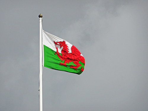 Flag at Criccieth Castle
