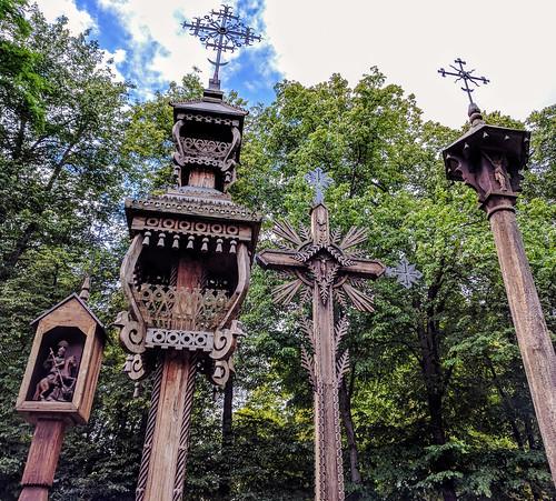 Traditional Lithuanian wooden crosses, Kaunas