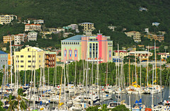Road Town (Colorado Sands) Tags: roadtown bvi britishvirginislands marina town hillside sandraleidholdt tortola britishoverseasterritory capital city sailboats boats yachts colorful capitalcities masts