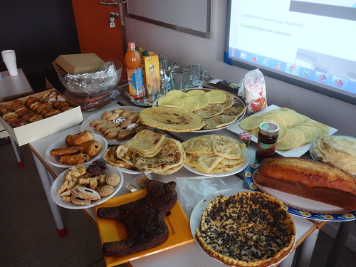 Le petit déjeuner marocains des élèves de la Résidence 2