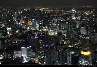 View from Baiyoke Sky Tower II @ Night, Bangkok, Thailand