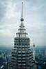 Petronas Twin Tower and Menara Tower, KL (littlestschnauzer) Tags: kl kuala lumpur malaysia 2017 august twin towers tower menara high height view cityscape futuristic highest tall tallest building