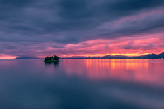 sunset 4781 (junjiaoyama) Tags: japan sunset sky light cloud weather landscape pink contrast colour bright lake island water nature fall autumn