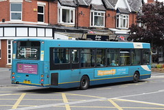 ANW 2634 @ Ainsdale train station (ianjpoole) Tags: arriva north west vdl sb120 wright cadet cx07cpk 2634 working route 49 preston new road crossens vale crescent ainsdale