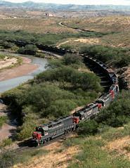Guthrie AZ Thursday October 31st 1991 1215MST (Hoopy2342) Tags: train railway railroad southernpacific guthrie arizona ariz az clifton gilariver sp
