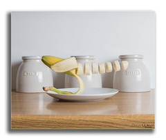 Levitating Fruit (peterwilson71) Tags: banana kitchen levitate floating fruit still life