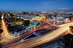 Traffic at night,Bangkok,Thailand (wichianduangsri) Tags: bangkok city cityscape citylife thailand longexposure night asia photography