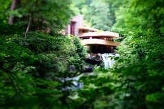 water, falling (KevinIrvineChi) Tags: sony dscrx100 frank lloyd wright tiltshift aperture priority green greenery miniature house mill run pennsylvania