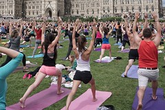 Remember those warm days of summer? (beyondhue) Tags: parliament yoga warrior grass outdoor ottawa ontario canada beyondhue people activity