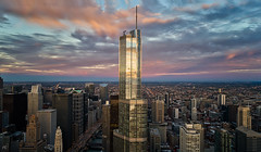 THE NEXT LEVEL (Nenad Spasojevic) Tags: sunrise color pov buildings cityscape chi flying downtown clouds nenadspasojevic dji city fun drama goldenhour above thenextlevel phanthom4pro 2017 skyscrapers exploration gold architecture reflection perspective citylights chicago burn nenadspasojevicart droning drone illinois il usa